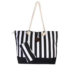 Handbags - Black and White Large Tote